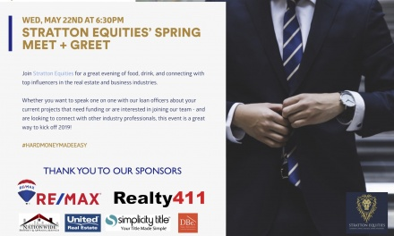 STRATTON EQUITIES' HARD MONEY MEET AND GREET ON MAY 22