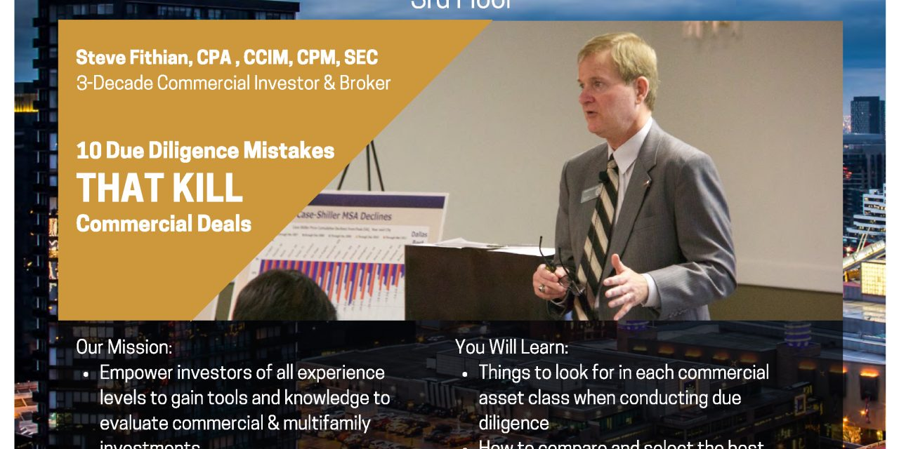 10 Due Diligence Mistakes that Kill Commercial Deals – JOIN BACOMM IN THE BAY AREA
