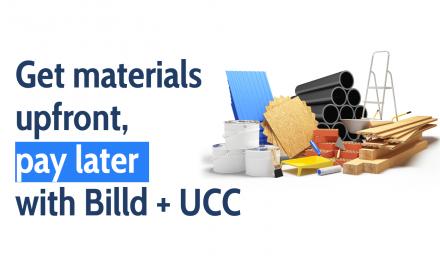 Billd + UCC – Get Materials, Pay Later