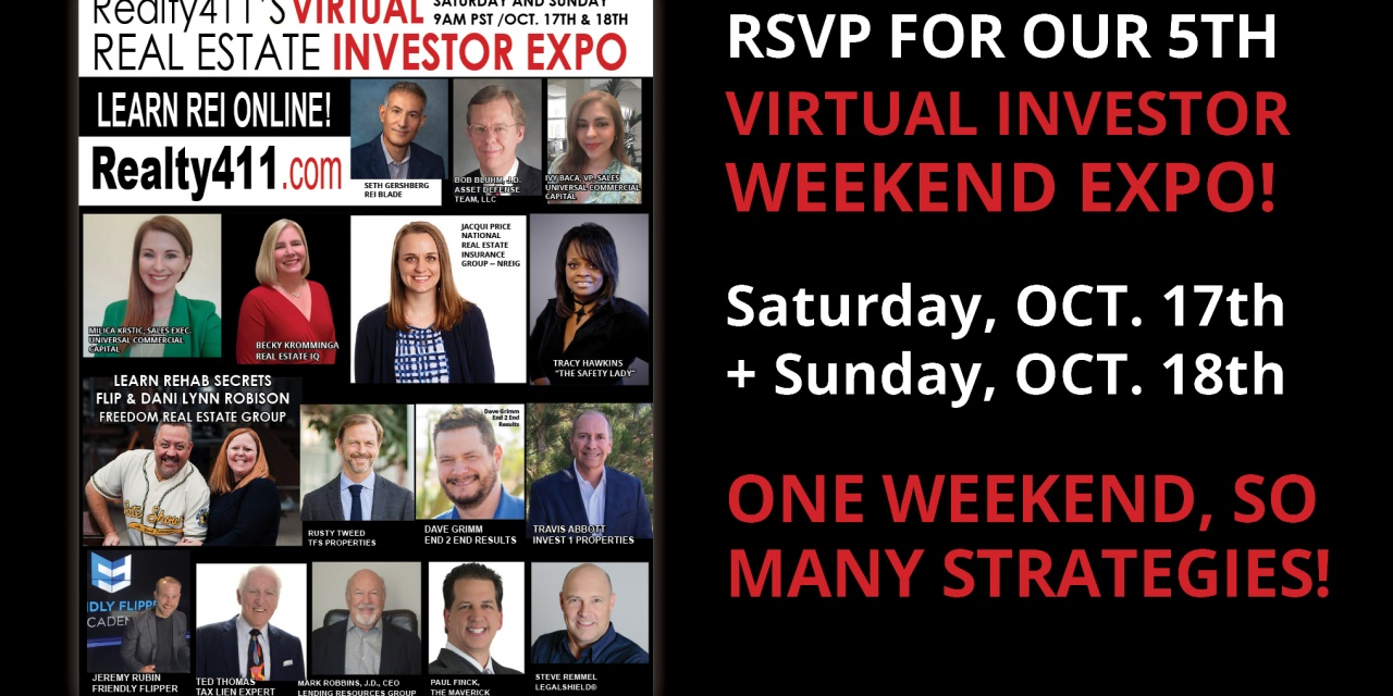 Realty411's Virtual October Expo to Attract Hundreds of Investors in Real-Time