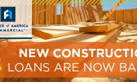 New Construction Loans are Back