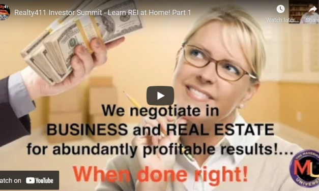 VIDEO: Realty411 Investor Summit – Learn REI at Home, Experts Spill their Secrets!