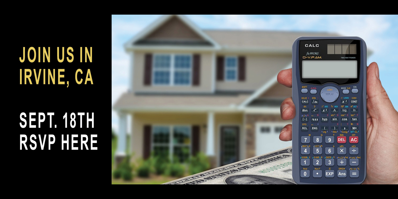 Celebrate real estate investing in Irvine, California