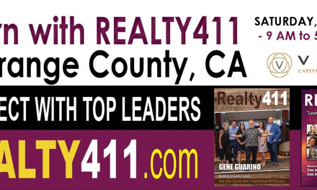 Celebrate Real Estate Investing with Realty411 – Our FIRST In-Person Event in Orange County.